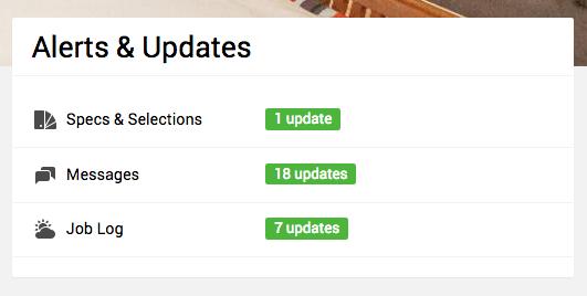 Dashboard - Alerts & Updates