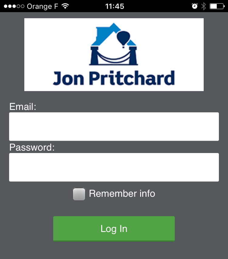Screen shot of Jon Pritchard Ltd loft conversion project management app, for builders and customers