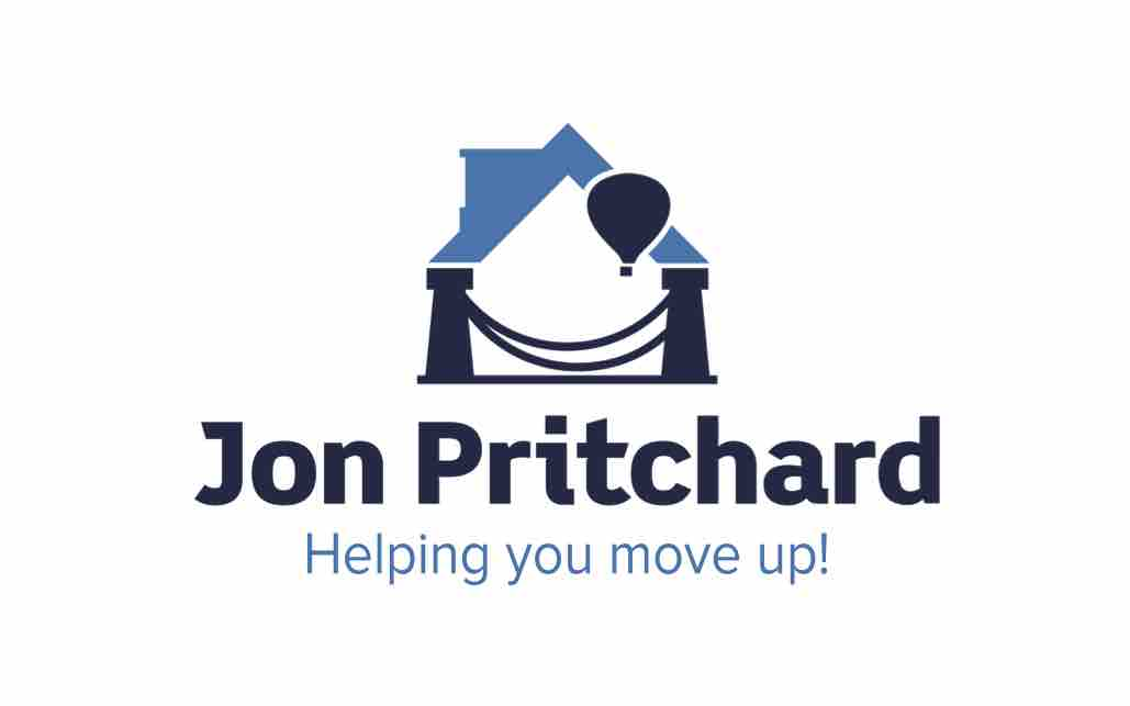 Logo for Bristol loft conversion specialists Jon Pritchard, with the tag line 'Helping you move up!'