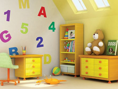 Loft conversion ideas - children's playroom