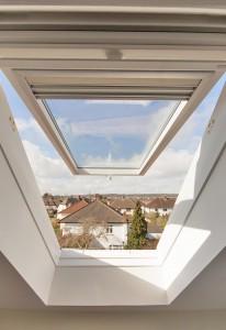 Loft conversion in Bristol with Velux window view