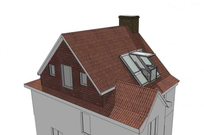 The new hip end and hip-to-gable loft conversion significantly increases space.
